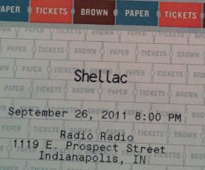 Shellac Tickets